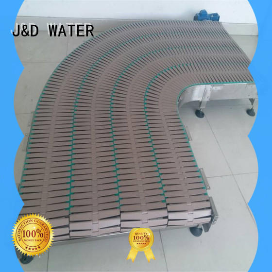 J&D WATER easy transport slat conveyor stability for drinking water