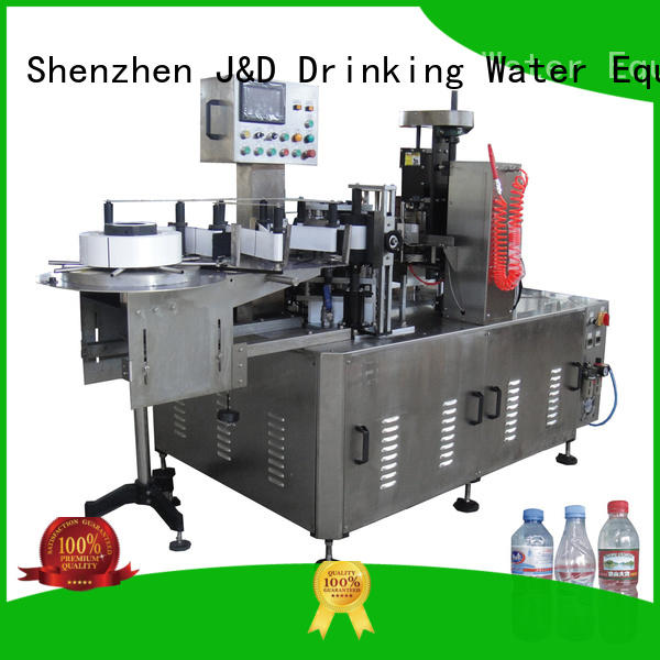 J&D WATER round bottle labeling machine reduce cost for glass bottle