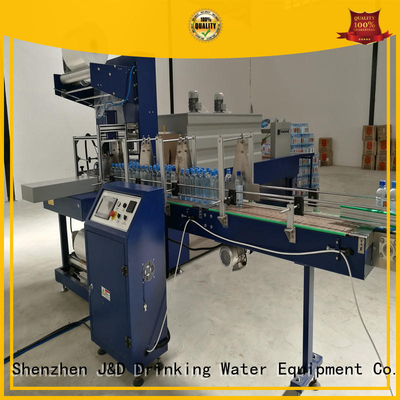 convenient automatic shrink wrap machine stable performance for beer J&D WATER