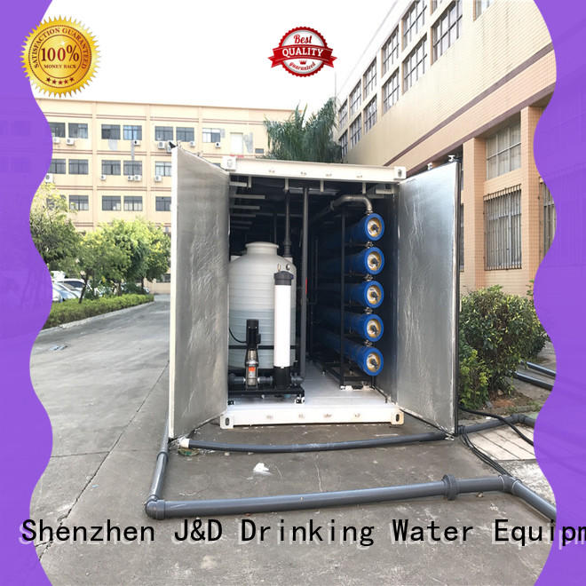 large seawater to drinking water machine high purity for troop stations