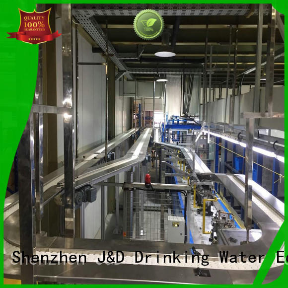 system chain conveyor climbing for food J&D WATER