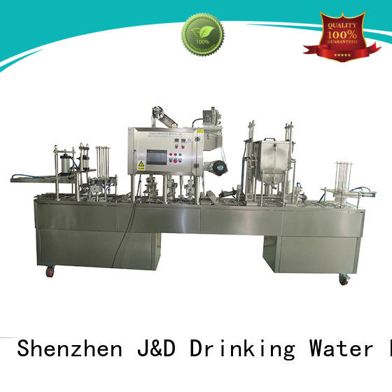 J&D WATER adjusted cup filling machine complete function for mineral water