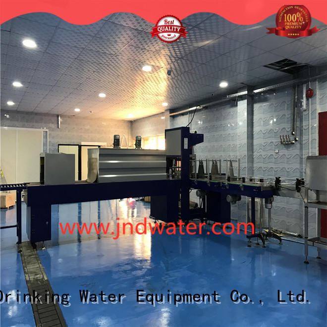 shrinking shrink wrap packaging machine reduce cost for beverage J&D WATER