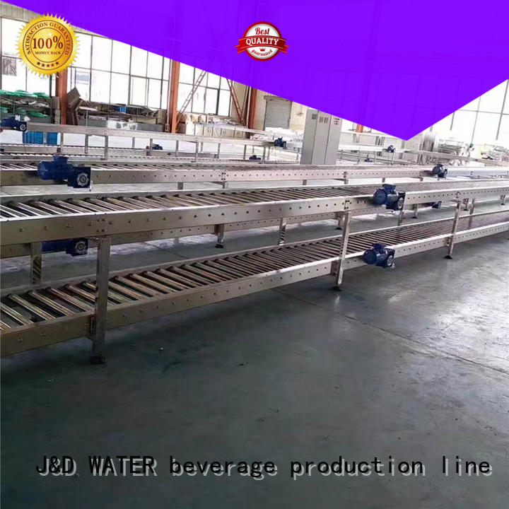 J&D WATER high quality automated conveyor systems stainless steel for food