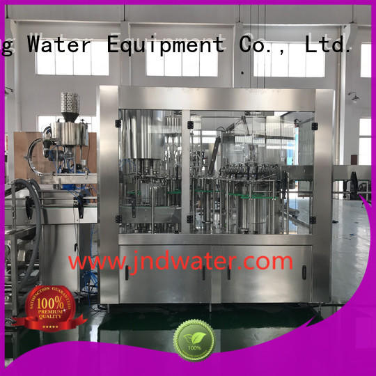 Hot carbonated automatic bottle filling machine filling J&D WATER Brand