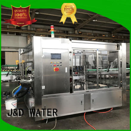 J&D WATER High Speed bottle labeling machine convenient for metal container