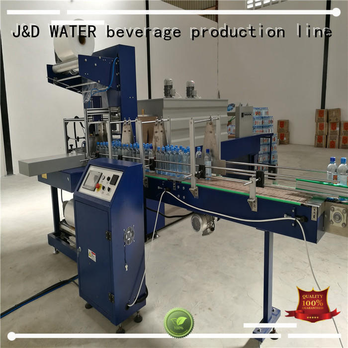 shrink packing machine reduce cost for beer J&D WATER