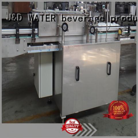 J&D WATER semi automatic labeling machine convenient for glass bottle