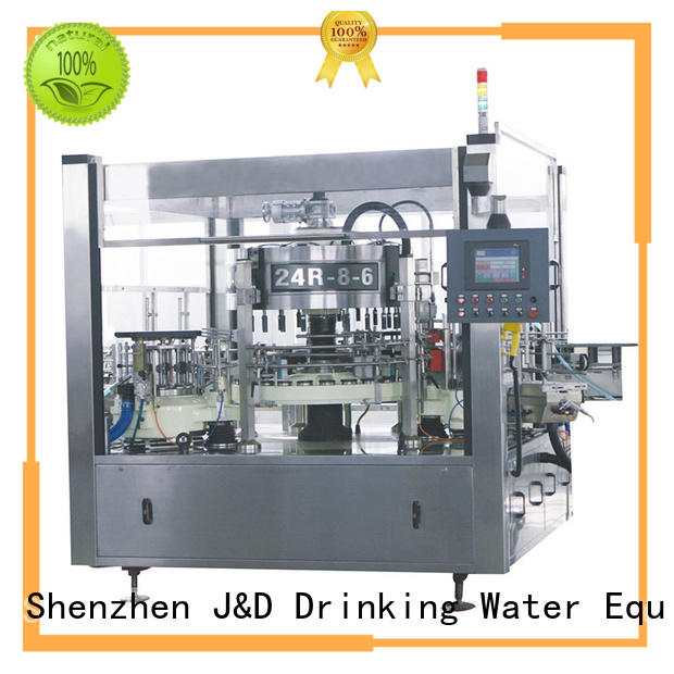 J&D WATER waterproof semi automatic labeling machine standard for glass bottle
