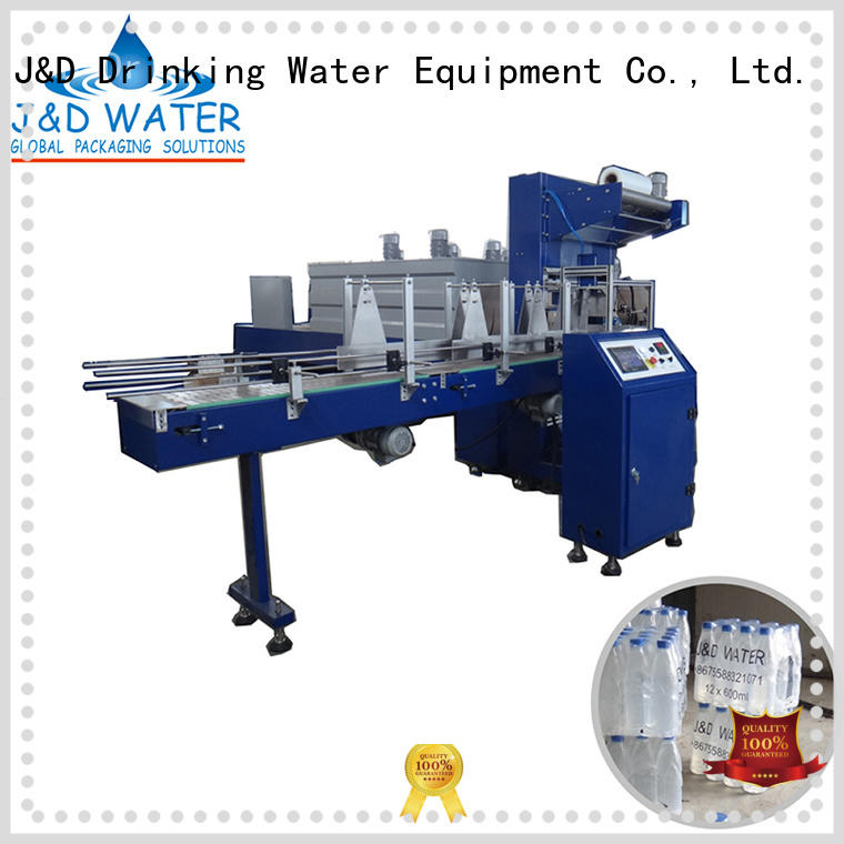 Hot shrink wrap machines for sale packing J&D WATER Brand