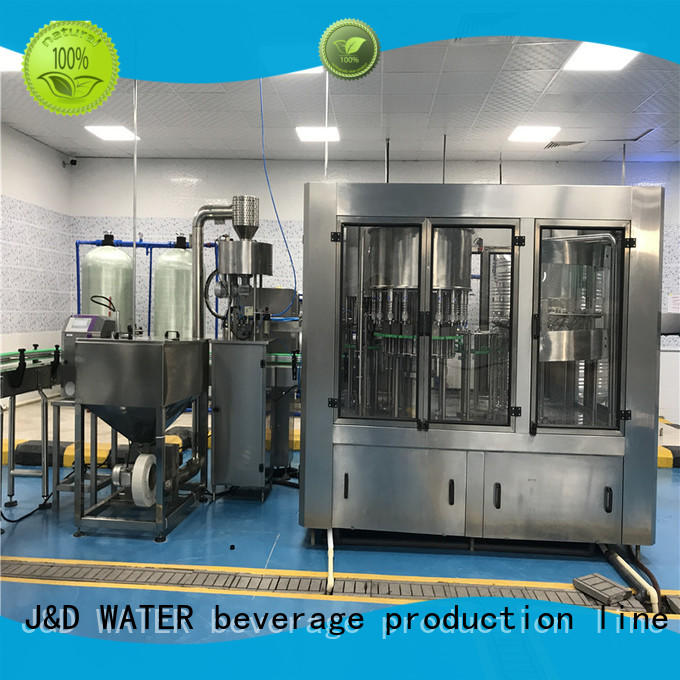 J&D WATER bottle washing filling capping machine factory for sauce