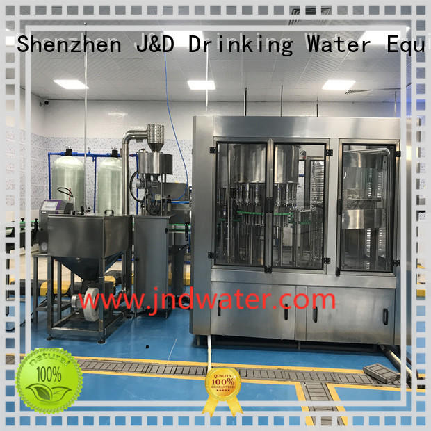 J&D WATER Brand sale easy custom automatic bottle filling machine