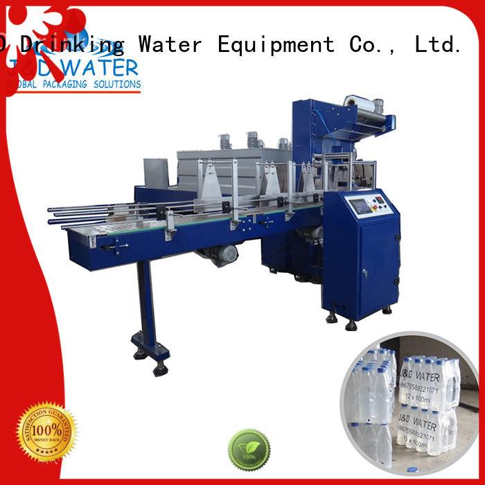 Custom packing automatic shrink packing machine J&D WATER wrap