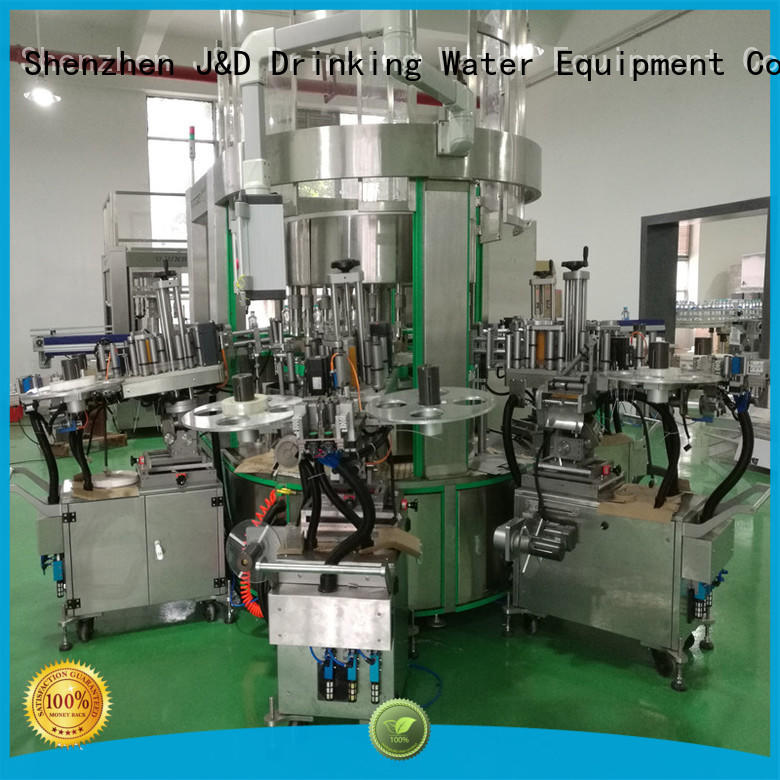label sticker automatic OEM self adhesive labeling machine J&D WATER