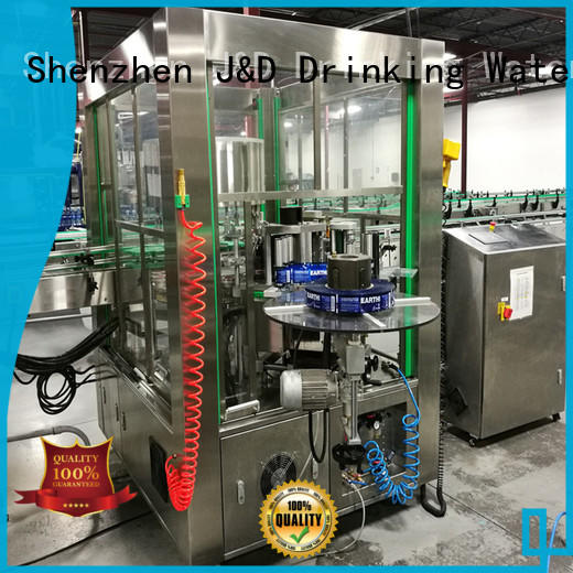 J&D WATER stainless steel round bottle labeling machine adjustable for metal container