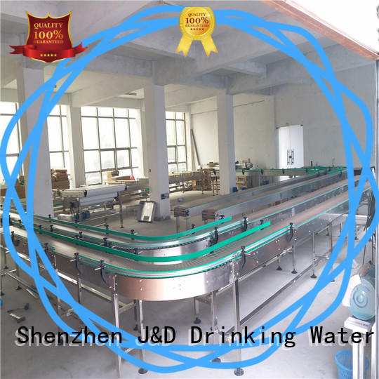 J&D WATER easy transport slat conveyor system for beverage,