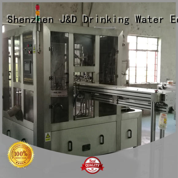 J&D WATER bag filling machine engineering for cosmetic