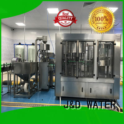 J&D WATER easy operation automatic liquid filling machine high accuracy for milk