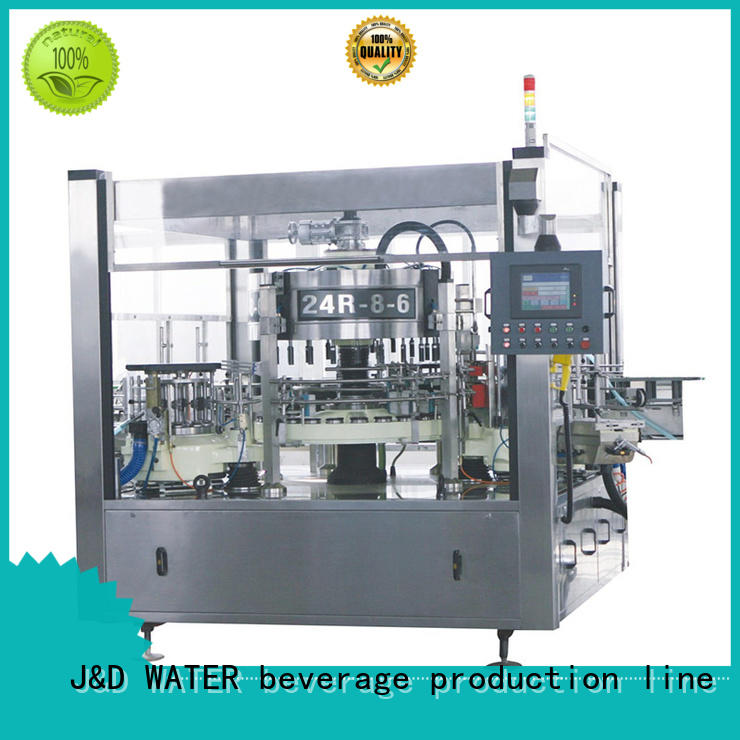 bottle labeling machine adjustable for glass bottle J&D WATER