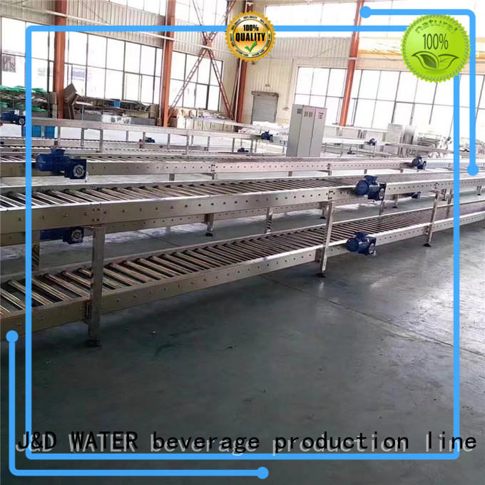 J&D WATER high quality motorized roller conveyor manufacturer for drinking