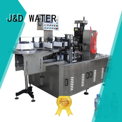 J&D WATER square bottle labeling machine quickly for metal container