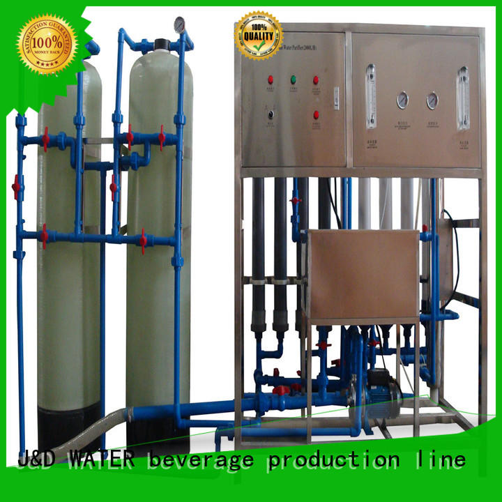J&D WATER mineral water plant machinery With Stainless Steel chrome plating