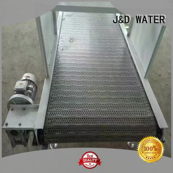 J&D WATER easy transport slat conveyor high efficiency for food