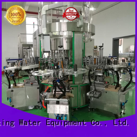 selfadhesive flat bottle labeling machine machine for metal container J&D WATER