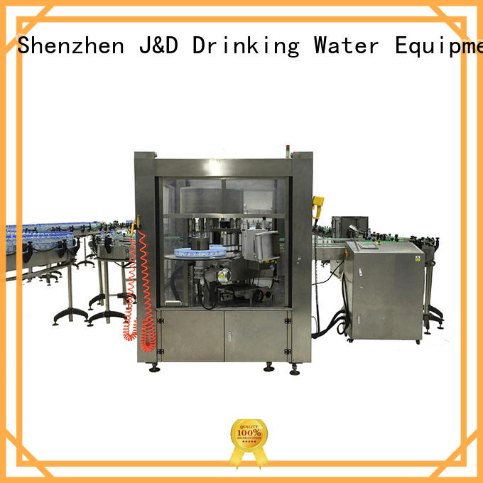 round bottle labeling machine adjustable for metal container J&D WATER