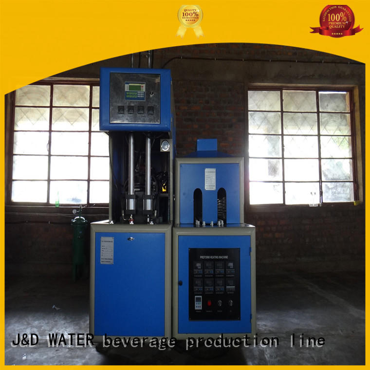 J&D WATER easy operation blow molding machinery safely for cosmetics bottles