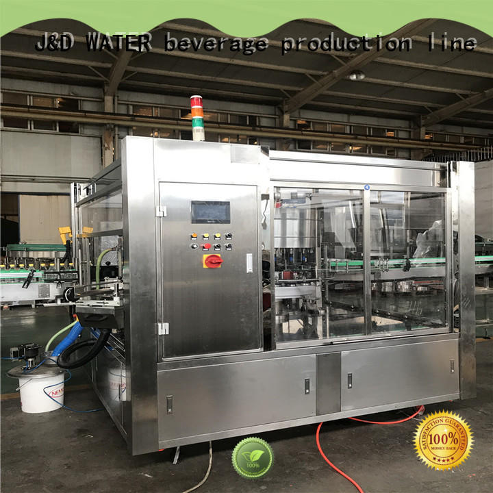 J&D WATER fast bottle labeling machine intellectual control for glass bottle