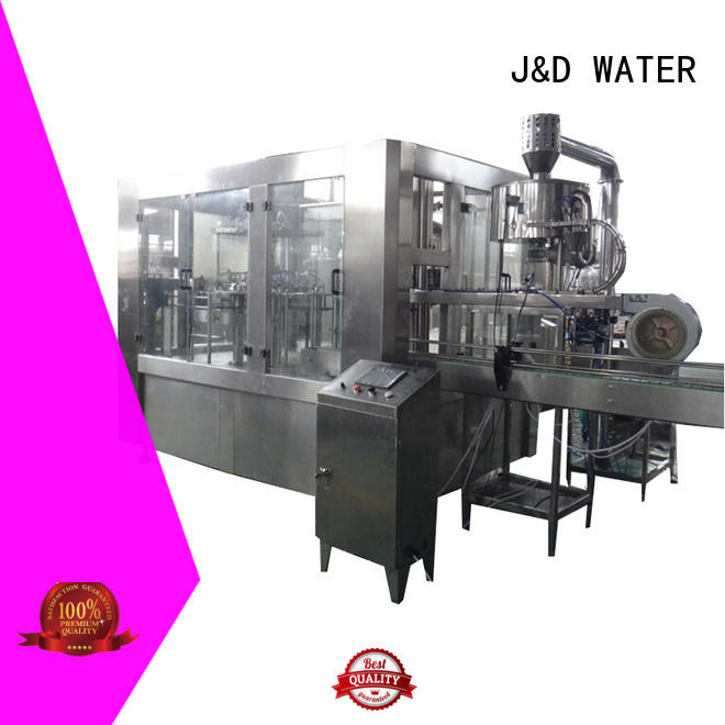 J&D WATER water bottle packing machine complete function for soy