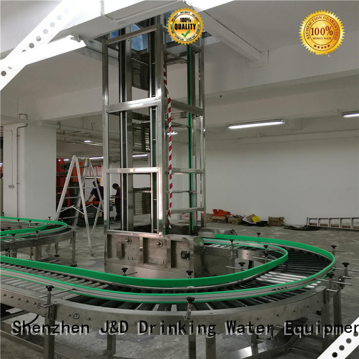 J&D WATER easy operation powered roller conveyor industrial for drinking