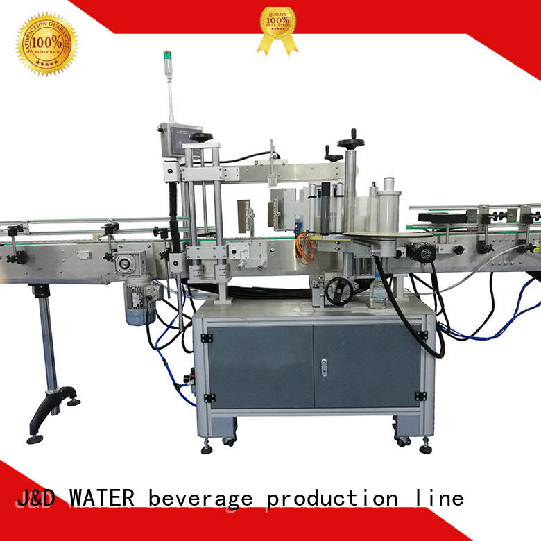 J&D WATER fast wine bottle labeling machine for sale for plastic bottle