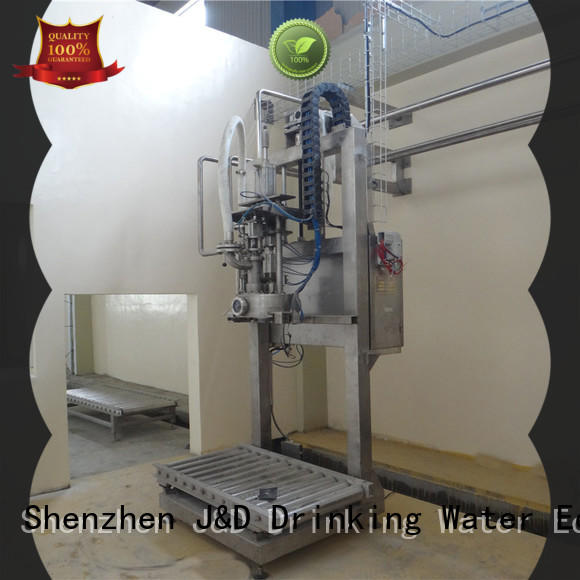 automatic bagging machine head for hot infusion J&D WATER