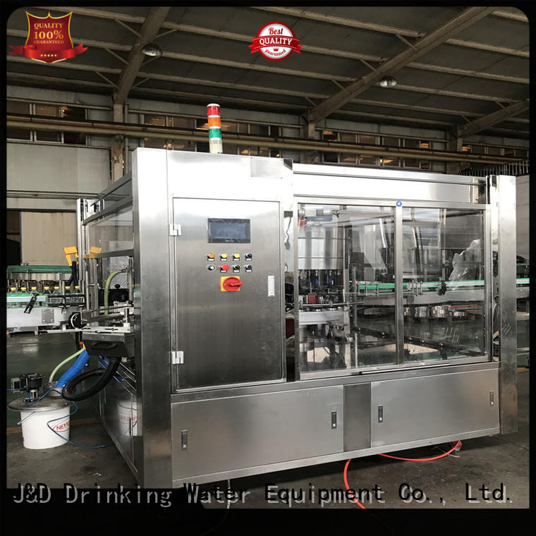 J&D WATER High Speed bottle labeling machine quickly for film lables