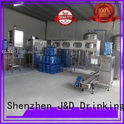 J&D WATER intelligent bottle packing machine complete function for vinegar