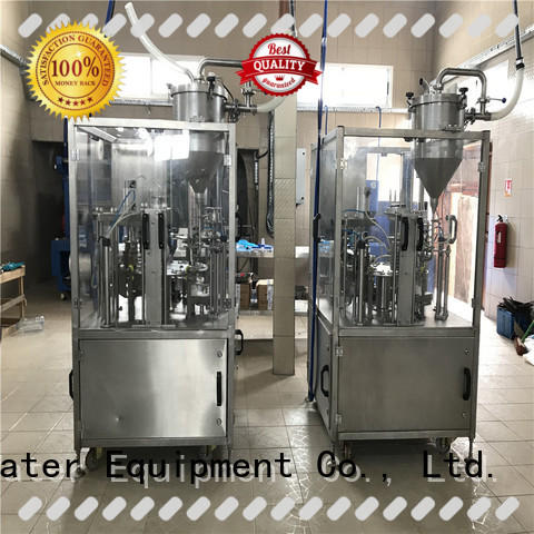 J&D WATER easy operation cup sealing machine high automation for beverage