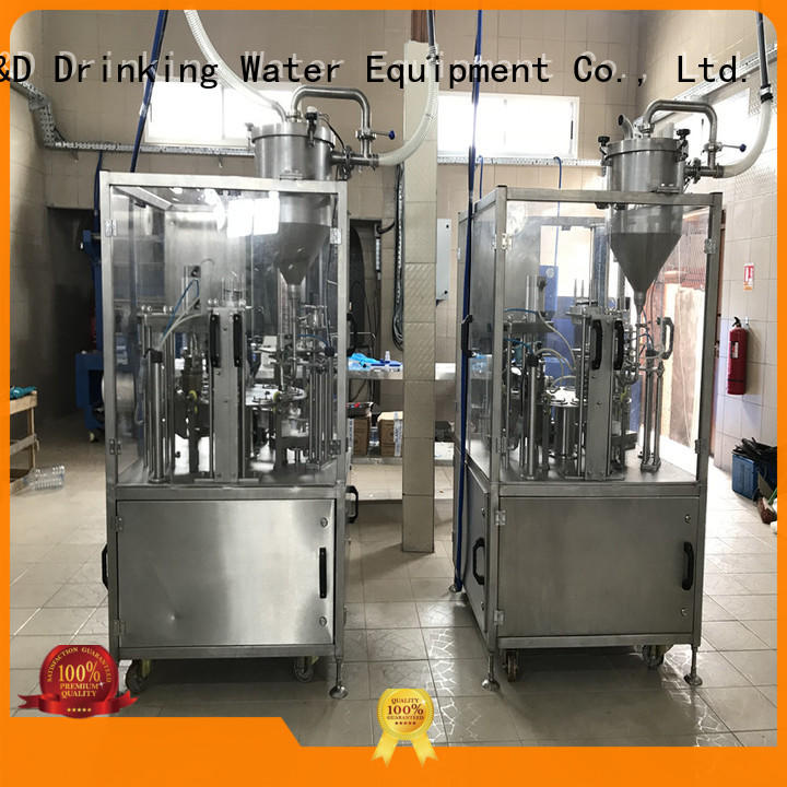 J&D WATER advanced technology cup sealing machine engineering for beverage