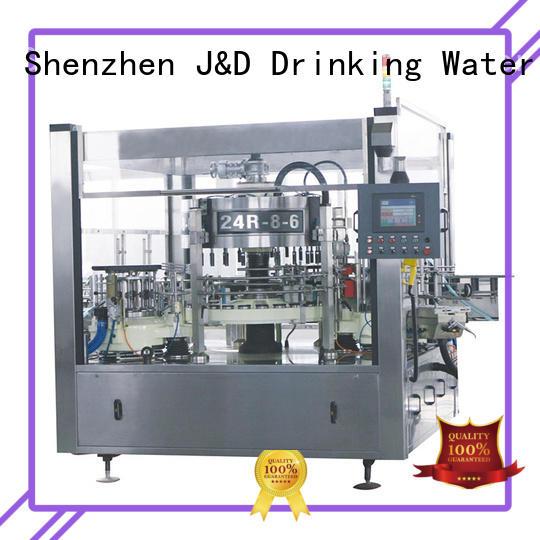 J&D WATER semi automatic labeling machine intellectual control for plastic bottle