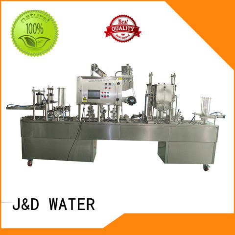 J&D WATER cup sealing machine stainless steel for hot infusion