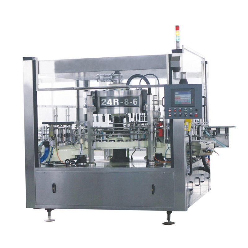 J&D WATER stainless steel semi automatic labeling machine standard for metal container-2