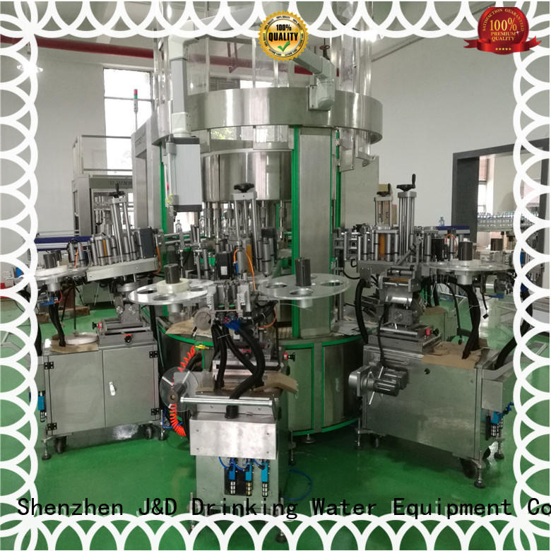 J&D WATER automatic sticker labeling machine standard for metal container