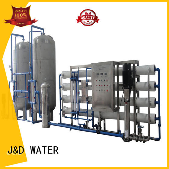 J&D WATER easy operation ro water machine manual wash for drinking water for treatment