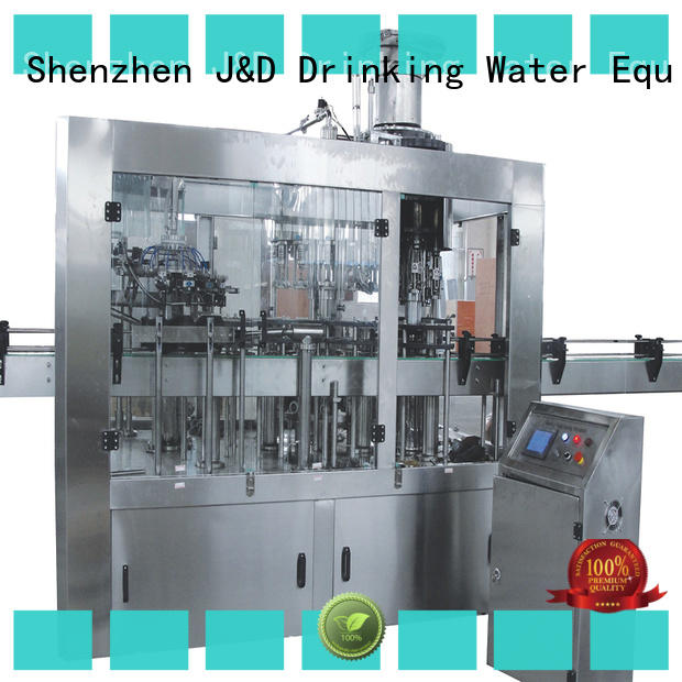 larger capacity automatic bottle filling machine stainless steel for vinegar J&D WATER
