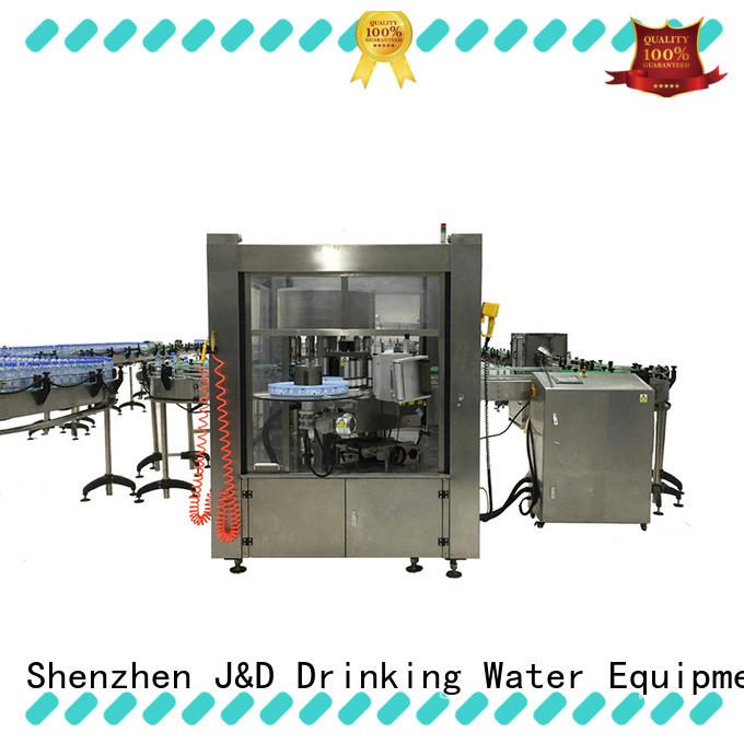 label water bottle labeling machine reduce cost for glass bottle J&D WATER