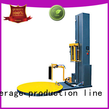 J&D WATER intelligent pallet wrapping machine easy to operate for beer