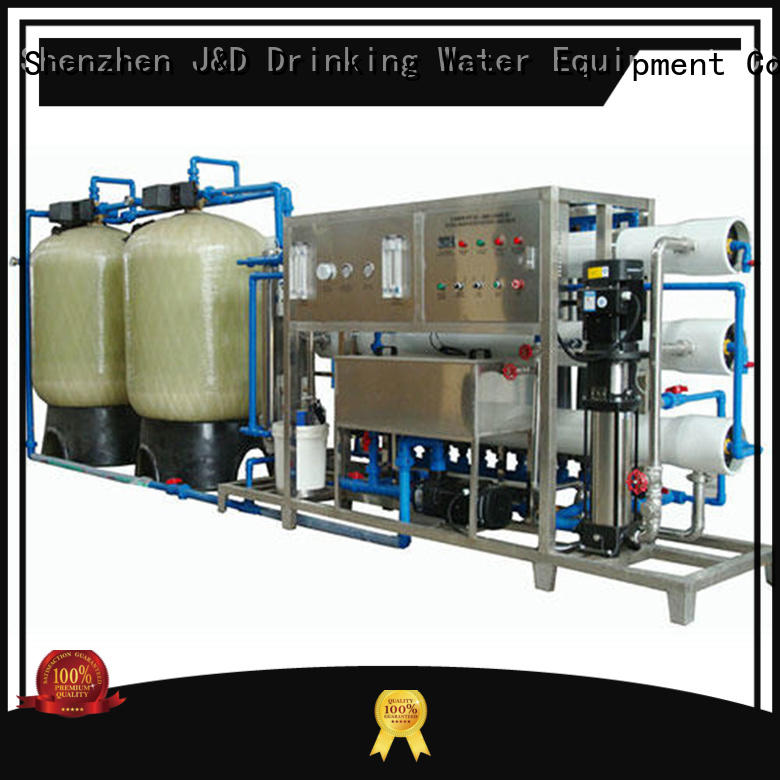 commercial reverse osmosis system With Steel for industrial waste treatment J&D WATER