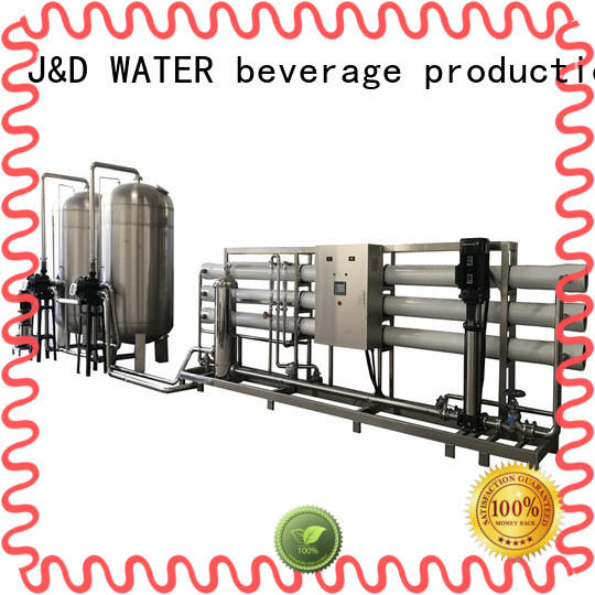 J&D WATER reverse osmosis water treatment equipment auto wash for pure water