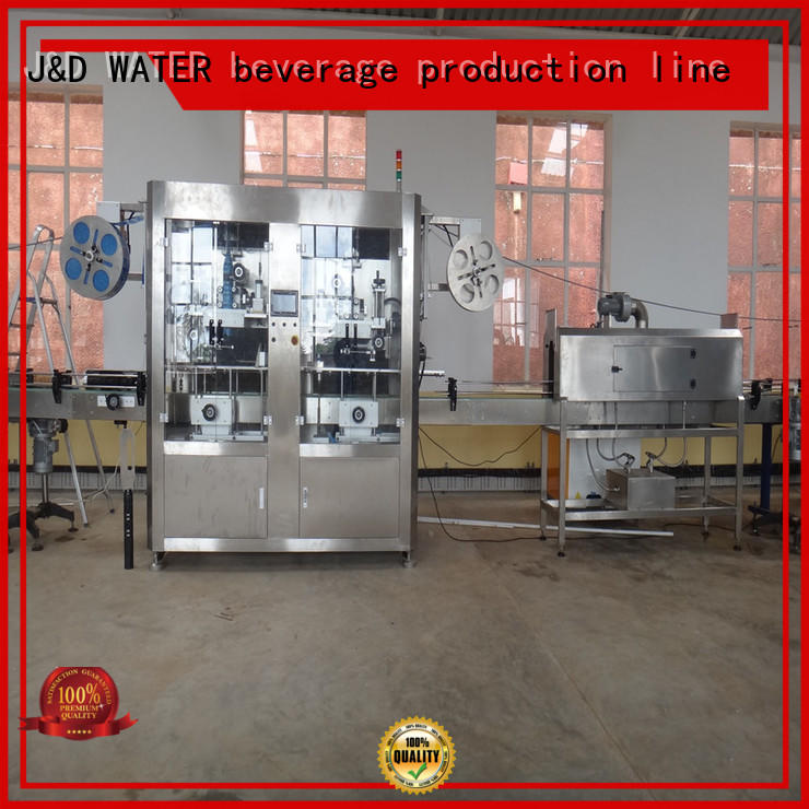 J&D WATER High Speed sleeve labeling machine adjustable for glass bottle